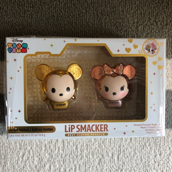 Disney Other - Lip Smacker Disney Tsum Tsum Gold Mickey & Minnie